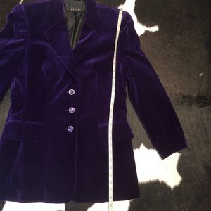 Escada Jackets & Coats - Escada purple velvet blazer jacket, size 38